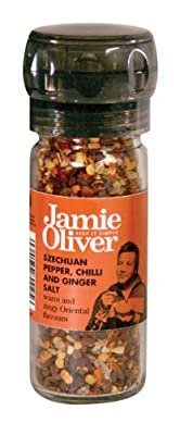 Jamie Oliver Szechuan Pepper, Chilli & Ginger Salt Grinder by Fiddes Payne