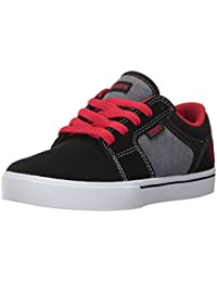 Etnies Shoes Kids Unisex-Kids Barge LS Skate Shoe, Black/Grey/Red, 10C Medium US Big Kid
