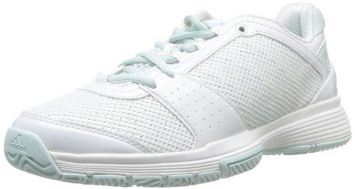 adidas Performance Barricade Team 3 W, Scarpe da fitness donna Bianco (Weiß (RUNNING WHITE FTW / RUNNING WHITE FTW / FRESH AQUA-SMC))
