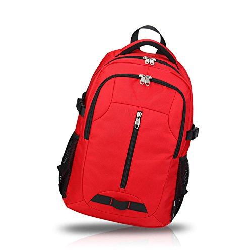 FANDARE Rucksäcke Schultasche Reisetaschen Wanderrucksäcke Sporttasche Outdoor Camping Wasserdicht Großer Kapazität Oxford Polyester Schwarz Rot