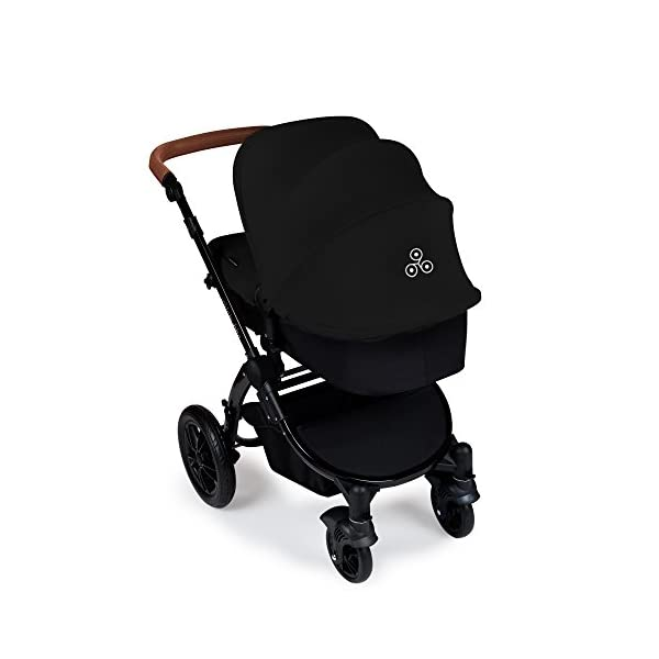 Ickle Bubba Stroller Stomp V3 iSize All-in-One iSize Baby Travel System | Car Seat w/ Isofix Base, Rear and Forward-Facing Pushchair, Carrycot | Black on Black Frame Ickle Bubba I-size all-in-one travel system: features carrycot, reversible pushchair, and mercury i-size car seat with is fix base. deluxe foam tires allow for a smooth ride Forward and parent facing toddler seat + new-born carrycot: flexible seating to cover your child from birth to 3 years old All weather protection: rain cover to cover your child from sudden downpour. machine washable and roomy footmuff 3