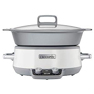 Crock-Pot CSC027X 6 l DuraCeramic Sauté Schongarer / Slow Cooker