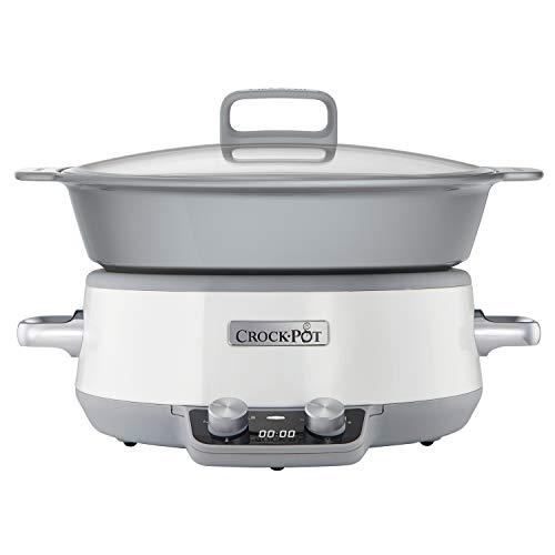 Crock-Pot CSC027X 6 l DuraCeramic Sauté Schongarer / Slow Cooker (Pot Den Griff Für Für Deckel Den Crock)