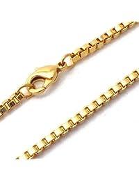 TENDENZE Collar Cadena veneciano 18k oro doublé 2,6mm longitud seleccionable directamente desde la fábrica italiana para mujer y hombre