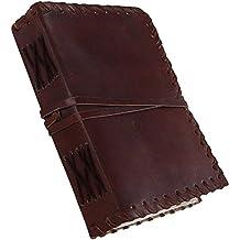 Medieval renacimiento hecho a mano cuero diario diario libro de pensamiento por Kool piel
