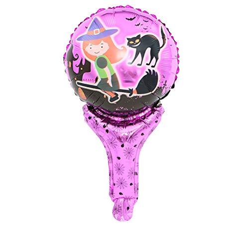 Vi.yo Halloween-Handstockballon ,Einfach und stilvoll Aufblasbarer dekorativer Ballon -
