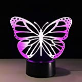 Coloridos Especímenes De Mariposa Alas De Color 3D Lámpara Insectos Ser Usb Creative Touch Lámparas De Escritorio Dormitorio Lámpara Durmiente Shldxz
