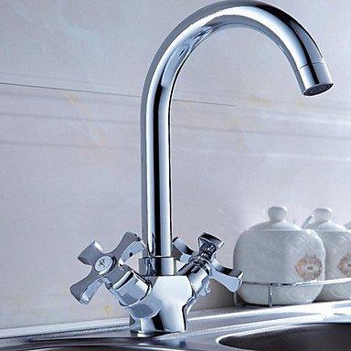 Y&M Schwenkbaren Auslauf Eitelkeit sinken Mixer Tippen Sie zwei Griffe Küchenarmatur Badezimmer Waschbecken Wasserhahn -
