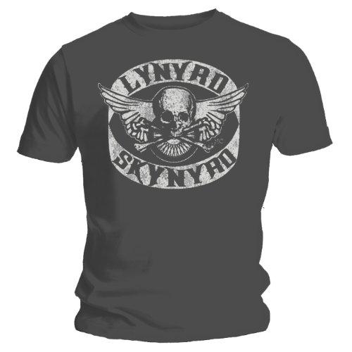 Coole-Fun-T-Shirts T-Shirt Lynyrd Skynyrd Biker MC - neu Grau - Grau