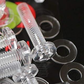 20er-Paket durchsichtige, klare M4 x 20mm Bolzen & Muttern, Unterlegscheiben - Schrauben aus Plastik, Acryl, Kunststoff