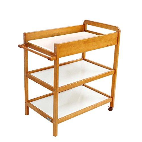 Table à langer de bébé en bois massif Table de soins pour bébé de soins néonatals Table de massage pour soins infirmiers Send Cushions Nursing Table de massage (Couleur : Naturel)