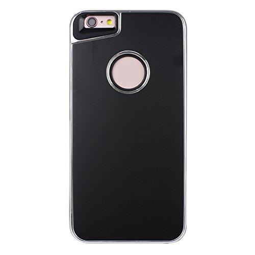 Pour Apple iPhone 7 Case Cover, Rosa Schleife® Silicone Gel Cas Fini Mat Coque boitier de telephone <4.7&quot; iPhone 7 Coque >          Anti Choc Resistant Housse Mince TPU Etui 2 en 1 double couche Swag Protectio Noir