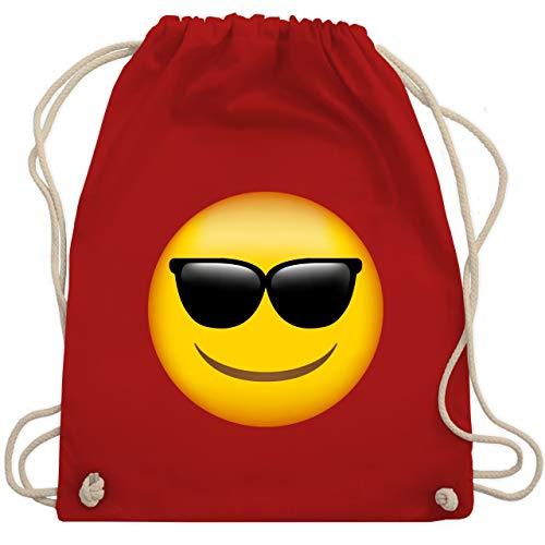 Coole Kostüm Für Gruppen Ideen - Comic Shirts - Emoji Sonnenbrille - Unisize - Rot - WM110 - Turnbeutel & Gym Bag
