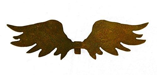 strubbelige Rost Engelsflügel zum Einhängen in eine Glasvase (kleine Variante)