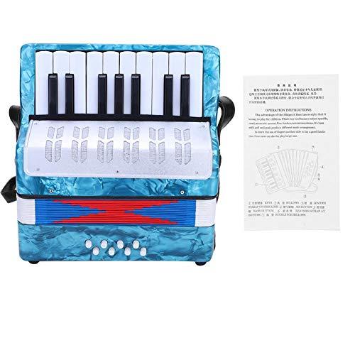 SolUptanisu Kinder Klavier Akkordeon 17 Key 8 Bass Mini Kleines Klavier pianoakkordeon Pädagogisches Musikinstrument für Kinder Anfänger Amateur Studenten (4 Farben Optional) (Navy blau)
