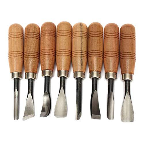Holzschnitzerei Messer Tools Kit, DIY Kunsthandwerk, Ideal zum Schnitzen von Gummi, Kürbis, Seife, 8 Stück