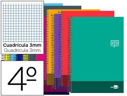 bloc-espiral-liderpapel-cuarto-discover-tapa-cartoncillo-80-h-80g-cuadro-3-mm-con-margen-colores