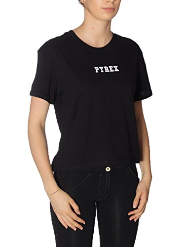 T-Shirt Pyrex Donna 33505 NEW Made in Italy MainApps Nero