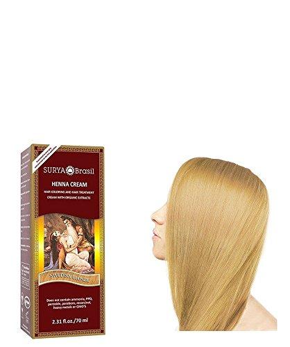 SURYA Brasil - Henna Haarfarbe, Creme, schwedisch blond, 1x70ml