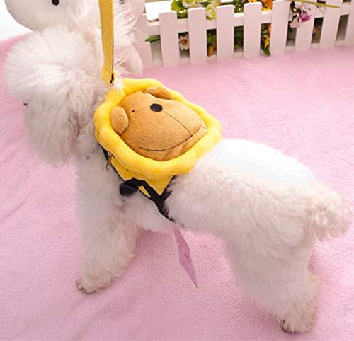 VICTORIE Kleine Mittlere Hund Geschirr Tasche Satteltasche Rucksack Carrier Haustiere für Außen Reise Training Camping Spaziergang Gelb L