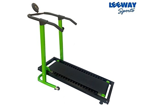 Manual Jogger Treadmill by Leeway| Roller Jogging Machine For Home| Foldable Tread Mill| Multifunction Walking and Jogging Gym Running Machines| Deluxe Tradmill| Lifeline Cardio Excersice- (GREEN)  available at amazon for Rs.12599