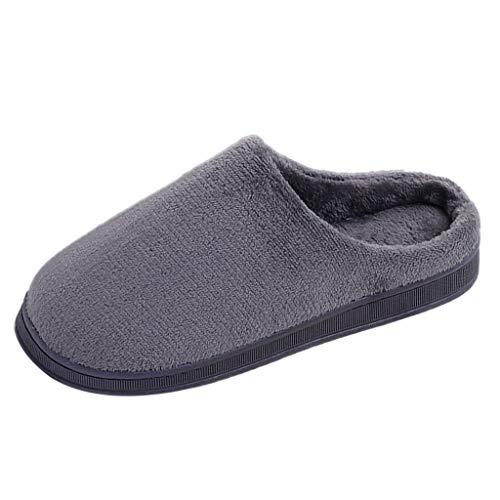 Watopi Super Warme Plüsch Hausschuhe und Indoor Weiche rutschfeste Slippers Winter Baumwolle Pantoffeln für Damen Herren Plüsch Baumwolle Pantoffeln