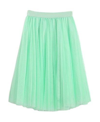 Honeystore Damen's Unterrock 50er Retro Tüllrock Tutu Petticoat Tanzkleid Grün One (Kostüme Jazz Bilder Dance)