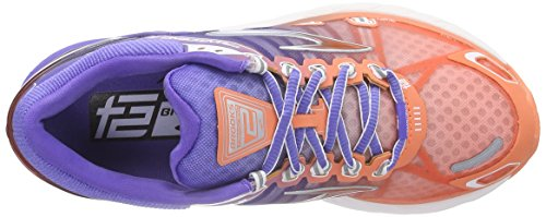 Brooks Transcend 2, Chaussures de course femme Multicolore - Mehrfarbig (FreshSalmon/BlueIris/Silver)