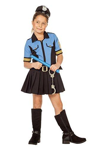 Ein Spieler Kostüm Football Mädchen - Jannes - Kostüm Polizistin Mädchen (ohne Hut) 176