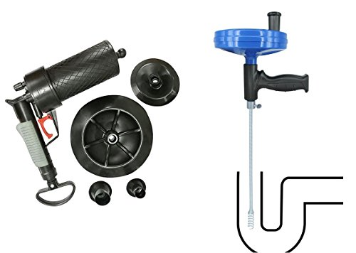 Abflussreiniger Pressluft Rohrreiniger 4 Bar Druck + Rohrreinigungswelle Rohrreiniger Spirale Rohrreinigung Rohrreinigungspistole Abflusspumpe