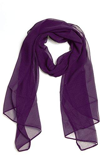 Cindio 100% Viskose Frühlingsschal Sommerschal Schal Halstuch Unifarben (einfarbig) Schal in verschiedenen Farben (dunkelorchidee)