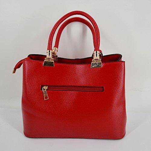 Millya, Borsa a mano donna, black (nero) - bb-00897-02C red