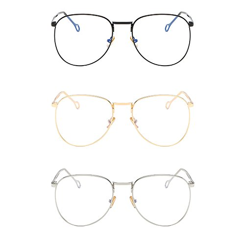 Deylaying Metal Frame Stylish Leg Myopia Finished Strength Glasses Nearsighted Eyeglasses -1.00~-4.00 (These are not reading glasses)