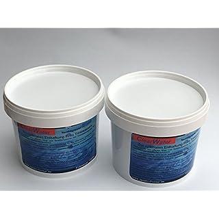 Nachfüllgranulat 2x1000ml für alle Wasserhärten, passend für Filter von Bosch DeLonghi Jura Krups Melitta Nivona