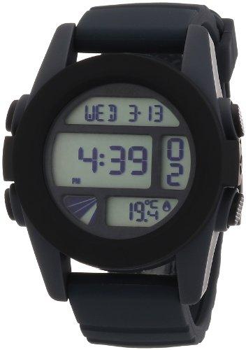 Männer Nixon-unit Uhren (Nixon Herren-Armbanduhr XL The Unit Gray / Black Digital Quarz Silikon A197195-00)