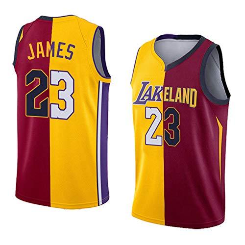 Wo nice Herren Trikot - NBA Lakers Cavaliers # 23 Lang James Yin Yang Ausgabe Doppel Paar Basketball Wear Fans Sportswear (XS-XXL),zuoqiyouhu,M