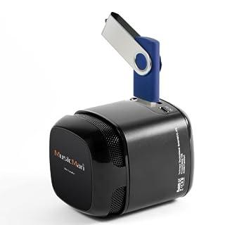 MusicMan Makro Soundstation Lautsprecher (microSD-Kartenslot, 3,5mm Buchse, 3 Watt, USB) schwarz