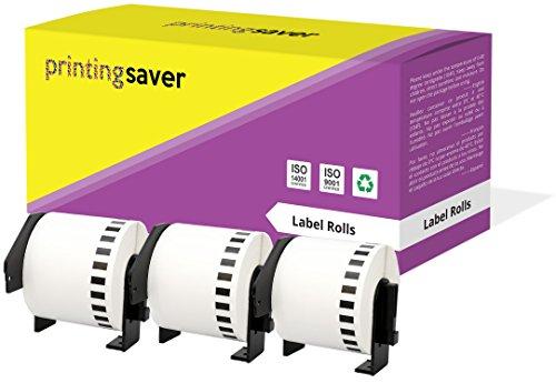 3 Rollen DK22205 DK-22205 62mm x 30.48m Endlos-Etiketten kompatibel für Brother P-Touch QL-500 QL-550 QL-560 QL-570 QL-580N QL-700 QL-720NW QL-800 QL-810W QL-820NWB QL-1050 QL-1060N QL-1100 QL-1110NWB - 500 Ql P-touch Brother