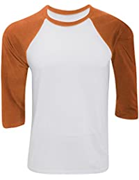 Bella And Canvas Mens Tri-Blend 3/4 Sleeve Baseball T-Shirt