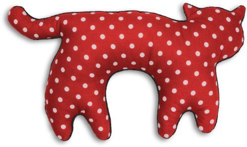 Leschi Travel pillow (for car and plane journeys) | 36797 | Feline the cat | Colour: Polka dot red / Midnight by Leschi GmbH
