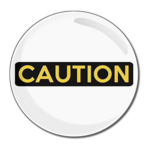 Caution - 55mm ronde de miroir compact