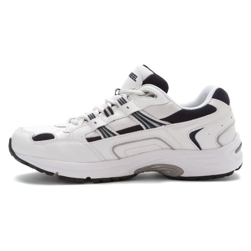 Vionic Women's Walker Classic Shoes, 13 2E US, White/navy White/navy