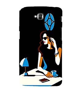 Focus Girl with Cup Of Coffee 3D Hard Polycarbonate Designer Back Case Cover for LG GPro Lite :: LG G Pro Lite Dual D686