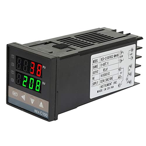 Temperaturregler, Ausgang 0-400 ℃ Digitaler Allzweck-Thermostat Temperatur-Thermostat-Relais zur Temperaturmessung Temperaturschalter zur Konstanttemperaturregelung(DC24V)
