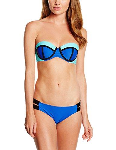 Miami Beach Swimwear Damen Neopren Bikini-Set, Blau (Intense Blue Cup B/C 606), 42