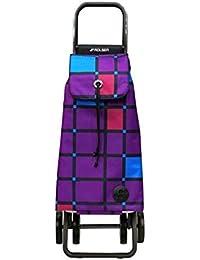 Rolser PAC059MORE - Carro de compra plegable de 48 L, cierre deslizante con broche (51 x 41 x 66.6 cm), color morado