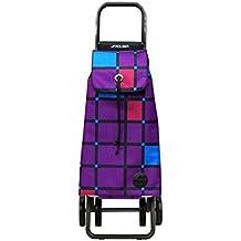 Rolser PAC059MORE - Carro de compra plegable de 48 L, cierre deslizante con broche (51 x 41 x 66.6 cm), color