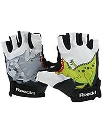 Roeckl guantes de ciclismo de verano niños Tula corta el dedo blanco / negro 2016, handschuhgröße:6