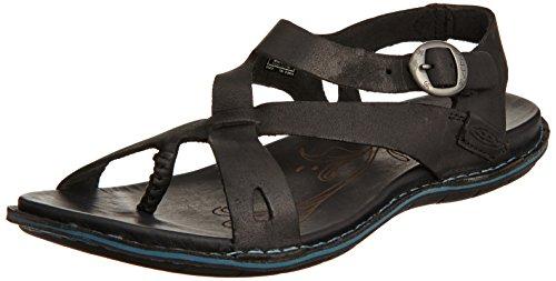 Keen Alman Pelle Sandalo Nero (nero)