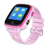 Lg-jz Smart Watch Smart Watch IP 67 Impermeabile Smart Dial 1.22 Pollici Schermata capacitiva Orologio elettronico della Macchina Fotografica del recinto (Colore : Rosa)